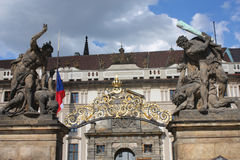 Royal castle entrance in Prague Stock Photography