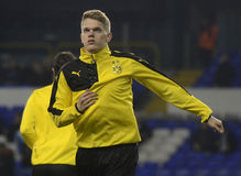 Matthias Ginter. Football players pictured prior to the UEFA Europa League round of 16 game between Tottenham Hotspur and Borussia Dortmund on March 17, 2016 at stock photo