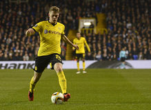 Matthias Ginter. Football players pictured during UEFA Europa League round of 16 game between Tottenham Hotspur and Borussia Dortmund on March 17, 2016 at White stock photos