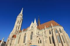 Matthias-Kirche am Buda Schloss, Budapest Stockbild