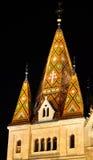 Matthias kościół mozaiki wierza Obraz Royalty Free