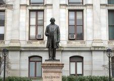Matthias William Baldwin bronzent la statue, ville hôtel, Philadelphie, Pennsvlvania Image stock