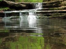 Matthieson Falls. A waterfall in Matthiessen State Park in Illinois Stock Photography