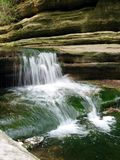 Matthieson Falls. A waterfall in Matthiessen State Park in Illinois Royalty Free Stock Image