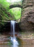 Matthieson Falls. A waterfall in Matthiessen State Park in Illinois Royalty Free Stock Images