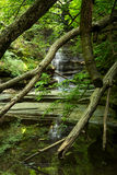 Matthiessen Lake falls. Royalty Free Stock Image