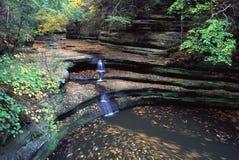 Matthiessen State Park - Illinois. The Giants Bathtub at Matthiessen State Park in Illinois Royalty Free Stock Photo
