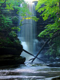 Matthiessen State Park Waterfall Illinois. Beautiful Lake Falls pours into a deep canyon at Matthiessen State Park in central Illinois Royalty Free Stock Photo