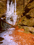 Matthiessen State Park Waterfall Illinois Royalty Free Stock Photography