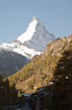 Matthorn de Zermatt Fotografia de Stock Royalty Free
