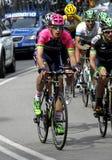 Mattia Cattaneo von Lampre-Mérida-Team Lizenzfreies Stockfoto