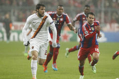 Mattia Destro and  Juan Bernat Bayern Munich v AS Rome Champion League Royalty Free Stock Images