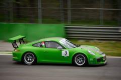 Mattia Drudi Porsche 911 Kop in Monza Royalty-vrije Stock Afbeeldingen