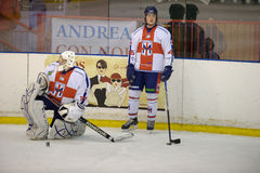 Mattia Mai e Niccolò Latin ( Hockey Club Milano) Stock Photography