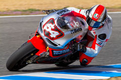 Mattia Pasini pilot of MotoGP Stock Images