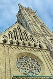 Mattias Church Rose Window auf Buda-` s Schloss-Hügel stockbilder