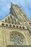 Mattias Church Rose Window sur la colline de château du ` s de Buda images stock