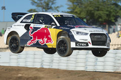 MATTIAS EKSTROM Barcelona FIA World Rallycross Lizenzfreies Stockbild