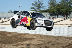Mattias Ekstrom.  Barcelona FIA World Rallycross Stock Photo