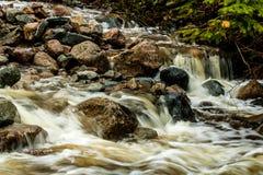 Mattie Mitchell Creek, Gros Morne National Park, Newfoundland, C. Anada royalty free stock image