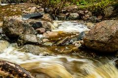Mattie Mitchell Creek, Gros Morne National Park, Newfoundland, C. Anada royalty free stock photos