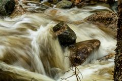 Mattie Mitchell Creek, Gros Morne National Park, Newfoundland, C. Anada stock image