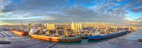 Mattina al porto marittimo, Casablanca (Marocco) Fotografia Stock Libera da Diritti