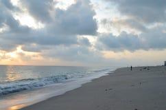 Mattina alla spiaggia Fotografie Stock Libere da Diritti