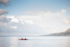 Mattina alla spiaggia del lobo, Batangas Fotografie Stock