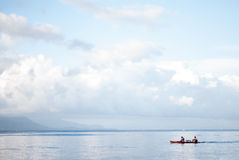 Mattina alla spiaggia del lobo, Batangas Fotografie Stock Libere da Diritti