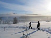 Mattina in anticipo di inverno Fotografia Stock