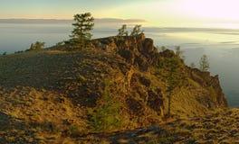Mattina a Baikal Fotografie Stock