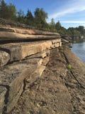 Mattina calma del fiume Fotografie Stock