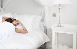 Mattina in camera da letto Fotografia Stock