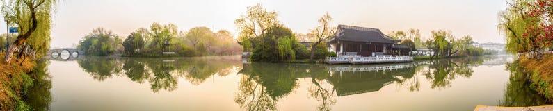 Mattina del canale di Yangzhou Fotografia Stock