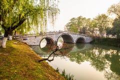 Mattina del canale di Yangzhou Fotografie Stock Libere da Diritti