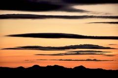 Mattina del cielo senza nebbia Fotografie Stock