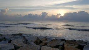 Mattina del huahin del mare immagine stock