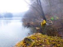 Mattina del lago Fotografie Stock Libere da Diritti