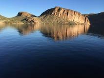 Mattina del lago canyon Immagini Stock