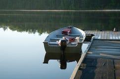 Mattina del lago fall Fotografia Stock