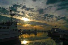 Mattina del porto dell'yacht Fotografia Stock
