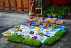 Mattina del ristorante del Yunnan fotografia stock