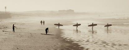 Mattina del surfista Fotografia Stock