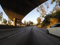 Mattina dell'autostrada senza pedaggio di Pasadena Fotografia Stock Libera da Diritti