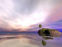 Mattina dell'isola della noce di cocco Immagine Stock
