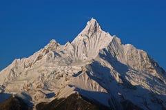 Mattina della montagna della neve di Meili Fotografie Stock
