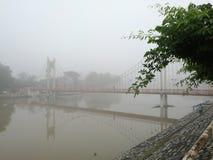 Mattina della nebbia Fotografia Stock