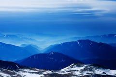 Mattina della sorgente nelle alpi dell'Austria Fotografia Stock
