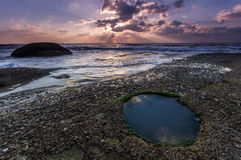 Mattina della spiaggia Fotografia Stock Libera da Diritti